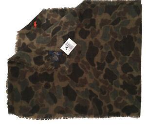 NEW Polo Ralph Lauren Camouflage (Camo) Scarf!  Very Lightweight  Sheer  16 x 76