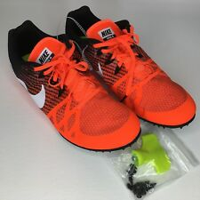 low priced cc9da cffa0 Nike Mens Zoom Rival M 8 Size 12 Track Spikes Orange and Black 806555-811