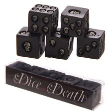 Black Skull Dice Dice With Death Brand New Novelty Gift Gaming
