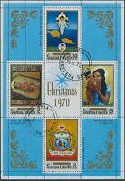 Samoa 1970 SG357 Christmas MS FU