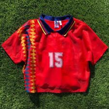 VTG 90s Red Adidas Womens Spain National Soccer Football Crop Jersey World Cup L