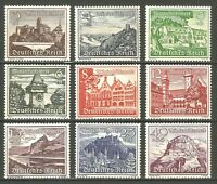 DR Nazi Reich WW2 '1939 Stamp full set Castles Tower Landscape Church Winter Aid