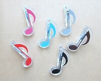 """🎁 Great Gift - Music Note Clip, Plastic, Length 2-3/4"""", 1 Pc, 6 Colors 🎁"""