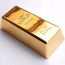 FUNNY FAKE REPLICA GOLD BAR Novelty Decorative Golden Ingot/Bullion Gag Prop