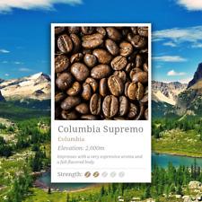 Columbia Supremo Coffee Beans, 100% Arabica, High Grade Specialty Coffee