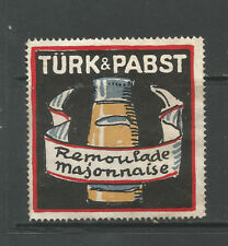 TÜRK & PABST Remoulade Mayonaise advertising stamp/label