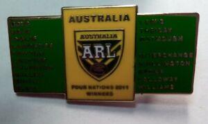 RUGBY LEAGUE FOUR NATIONS 2011 AUSTRALIA NRL KANGAROOS TEAM LAPEL PIN BADGE