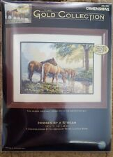 Counted Cross Stitch Dimensions GOLD COLLECTION KIT,HORSES BY A STREAM,35174,USA