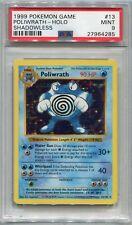 Pokemon Card Unlimited Shadowless Poliwrath Base Set 13/102, PSA 9 Mint