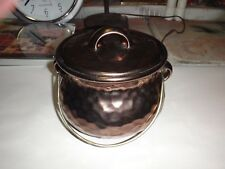 Vintage Mccoy Pttery Tea Pot Hammered Cookie Jar-No Damage