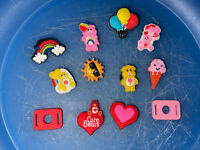 Care Bears Lot Of 10 Shoe,Bracelet Charms & 2 Lace Adapters