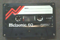 MC Musicassetta MELSONIC 60 vintage compact cassette audio tape USATA no agfa