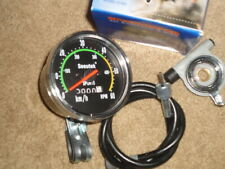 Vintage Style Bicycle Speedometer Analog Mechanical Odometer With Hardware NIB