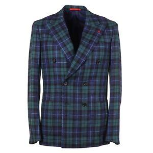 Isaia Slim-Fit 'Capri' Tartan Check Cashmere-Wool Sport Coat 40R (Eu 50)