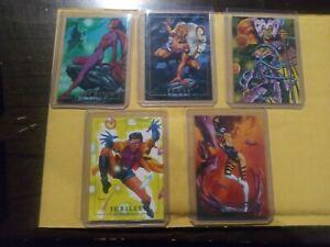 1992 Marvel Masterpieces Complete Set Lost Ladies Insert Set Of 5