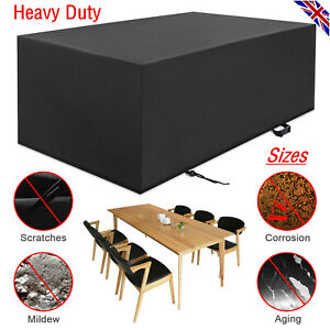 Heavy Duty 420D Oxford Cloth Garden Table Cover Rattan Table Cube Set Outdoor UK