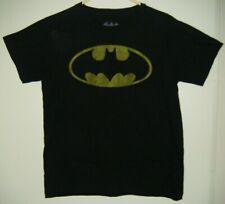 Mens Batman Black T Shirt Size S small Tee - Bat Graphics - See Measurements