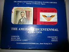 American Bicentennial Historical Playing Card Deck, Lincoln Deluxe Edition