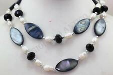 COLLANA Lunga 80 Cm Perle e Madreperle NECKLACE pearls and mother of pearl