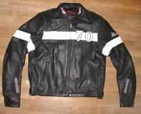 LOUIS Herren- Motorrad - Lederjacke / Biker- Jacke in schwarz - weiss ca. 50/52