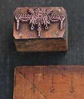Druckstock floral Jugendstil Galvano Bleisatz Kupferdruckstock Druckplatte Druck