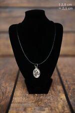 Doberman pincher - silver plated pendant with a dog, Art Dog USA