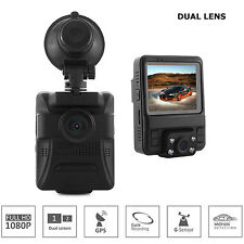 Dual Lens Car DVR Video Recorder Camera Dash Cam for driver seat Full HD 1080P