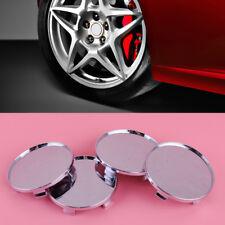 4 x 68mm Chrome Plated Plastic Car Auto Wheel Center Hub Caps Covers Set no logo