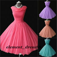 1950's Vintage Short Prom Dresses Tea-length Bridesmaid Ball Gowns Evening Dress