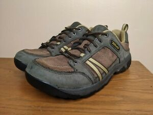 Teva Casual Shoes Sneakers Men's 9.5 Suede Leather Lace Up Hiking Outdoors 4053