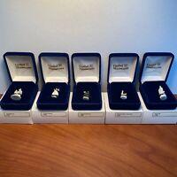 Goebel Miniatures of Robert Olszewski Original 5 Piece Set #37000 New in Boxes