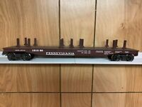 ✅K-LINE SCALE PENNSYLVANIA 50' FLAT CAR & STAKES! O TRAIN