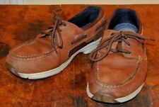 Men's West Marine Sz 10.5 M Brown Leather Boat Topsider Shoes