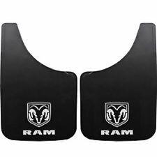 2PC Dodge RAM White Logo 9X15 Mud Flaps Splash Guard Car Truck New Free Shipping