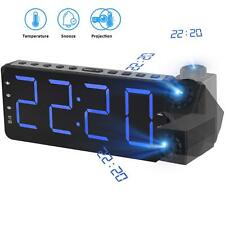 TinMiu Digital Alarm Clock Projection Clock with Time&Temperature Projection