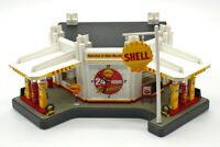 Shell Service Station (1:43) RARE Diorama/Clock, by Danbury Mint (USED)