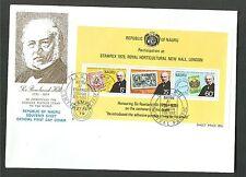 NAURU SIR ROWLAND HILL SC. 195-197 & 197A SOUV. SHT LOT / 2  FIRST DAY COVER 50K