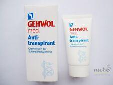 "GEHWOL med ""Anti-Transpirant"" ANTI-PERSPIRANT FOOT CREAM - 50ml - from GERMANY"