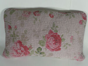 "1 OBLONG DECORATIVE THROW PILLOW NEW LENOX VINTAGE FLORAL QUEEN KING 12"" X 18"""