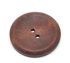 5 Wooden LARGE Reddish Brown Wood Buttons 40mm Sewing scrap book