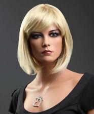 Ladies Short Bob Style in 2 Tone Strawberry & Platinum Blonde Blend.FREE WIG CAP