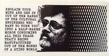 TERENCE MCKENNA VINYL STICKER psychedelic mushrooms dmt Lsd acid philosophy weed