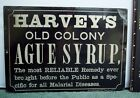 Tin Litho Quack Medicine Advertising Sign, Cure for Malarial Diseases, c. 1880s