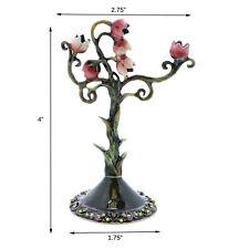 Cute Jewelry Tree Pink Rose Stand Metal Jewelry Treasure Earring Display