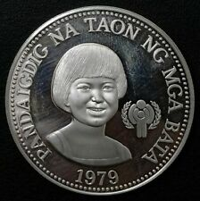 PHILIPPINES 50 Piso 1979 Silver UNICEF Year of The Child