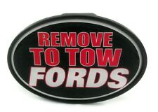 NOVELTY TOW-BAR / TRAILER HITCH COVER - REMOVE TO TOW FORDS