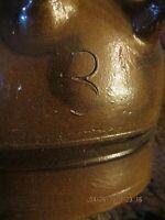 Perfect Condition Unknown Crock Stoneware Earthenware Cobalt Blue Eagles Handles