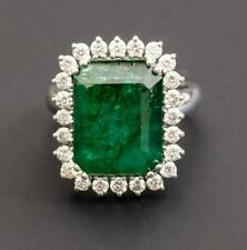 3.20Ct Oval Cut Emerald Diamond Halo In 14K Yellow Gold Finish Engagement Ring