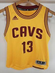 Adidas Cleveland Cavaliers Tristan Thompson Jersey #13 Youth Medium Yellow Gold
