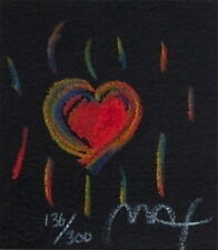 "Heart Suite III #II, Ltd Ed Litho (Mini 2.75"" x 2.5""), Peter Max - SIGNED w/ COA"